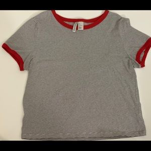 H&M Red And Striped T-Shirt